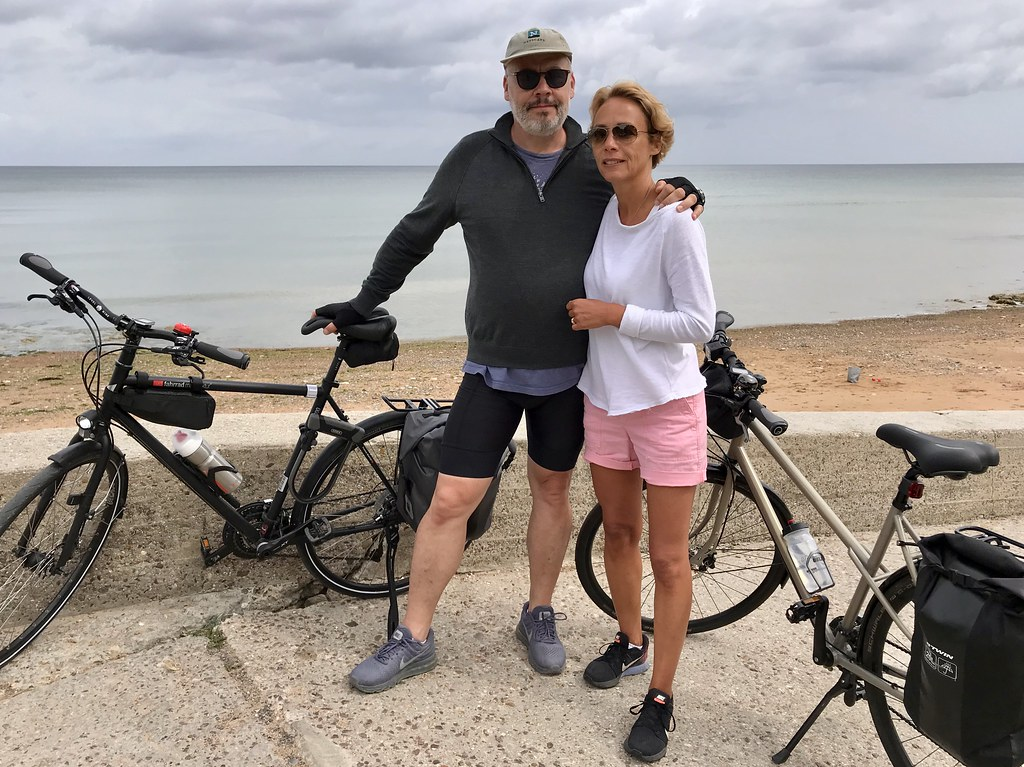 Avec mon épouse vers la fin du voyage