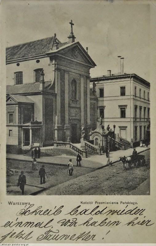 Kosciol_Przemienienia_Panskiego_Kapucynow_ul_Miodowa_pocztówka ok 1900 . polska-org