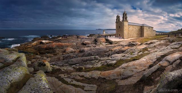 Panorámica del Santuario de la Virgen de la Barca, Muxía