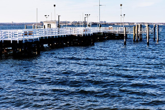 The pier at Steppingstone Park, Kings Point, New York