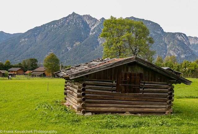 Shed in beautiful landscape