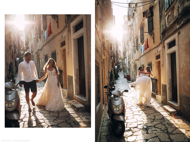 After-wedding photo session in Kerkyra