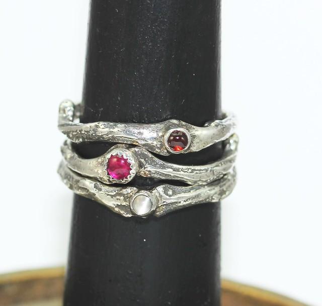 Twig Birthstone Rings