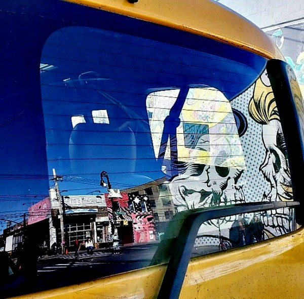 taxi cab reflections