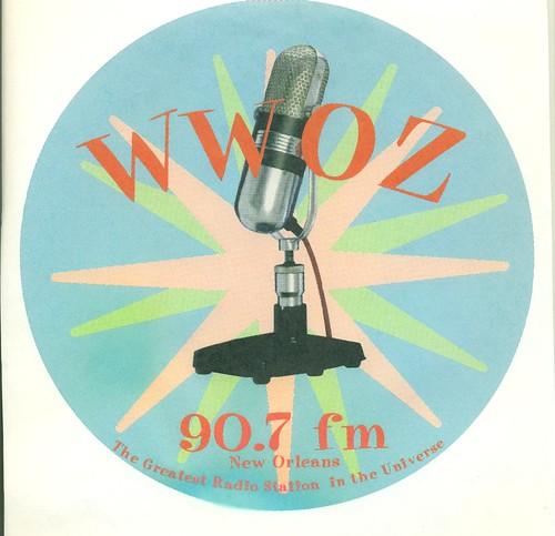 WWOZ microphone starburst logo