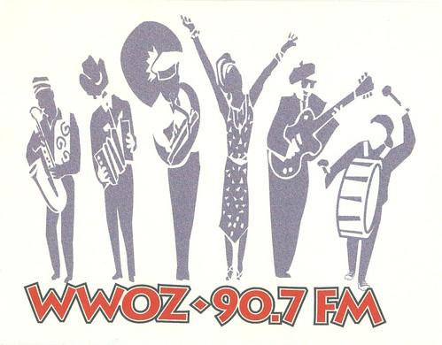 WWOZ logo with musicians
