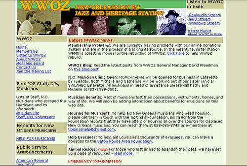 wwoz.org September 2005
