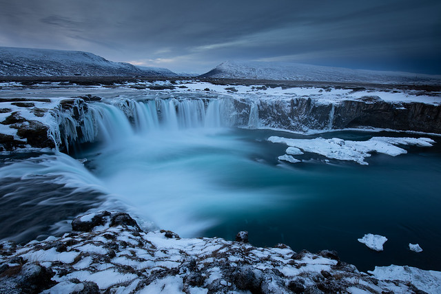 Godafoss, god's waterfall in Iceland