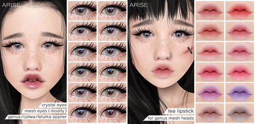 .ARISE. Crystal Eyes & Lee Lipstick