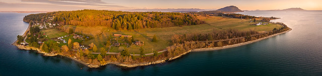 Aerial Panorama of Lummi Island, Washington