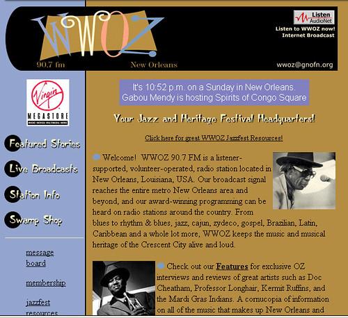 wwoz.org 1999