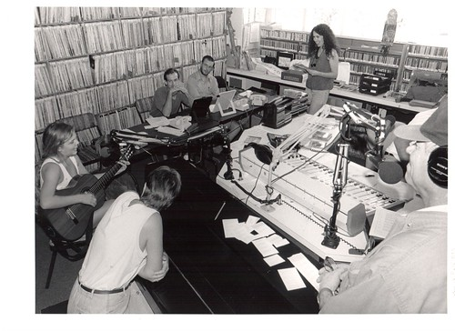 1998 Pledge Drive at the WWOZ Treehouse, photo by AL Kennedy
