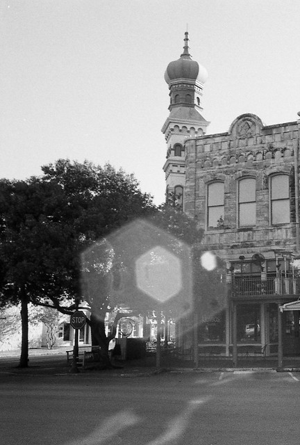 Lens Flare on the Square, Georgetown, TX