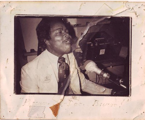Ernie K-Doe on air at WWOZ in the 1980s