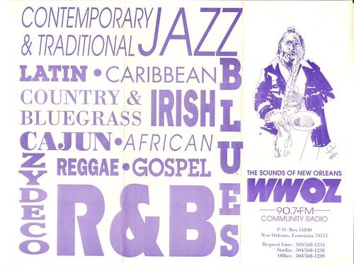 WWOZ 1982 brochure