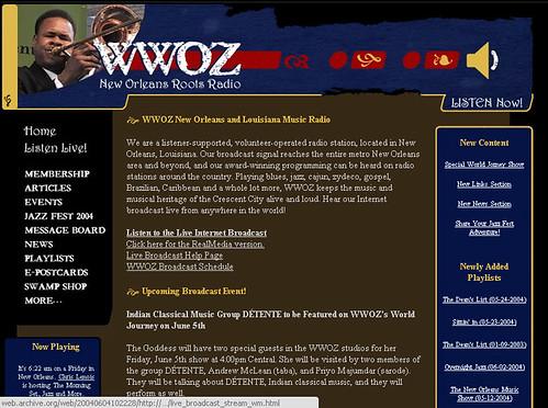 wwoz.org 2004