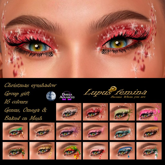 """Lupus Femina"" Christmas Eyeshadow - Group Gift December"