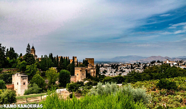 alhambra y granada, desde generalife