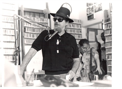 Dr John in the WWOZ Treehouse 1998 photo by Al Kennedy