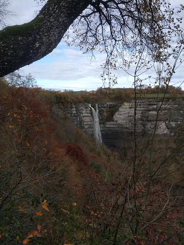 cascada de Gujuli desde el mirador