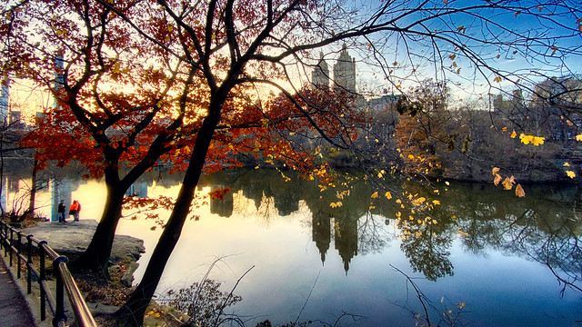 Central Park Lake at Near Dusk