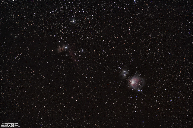 Orion, Flame and Horse Head Nebulae