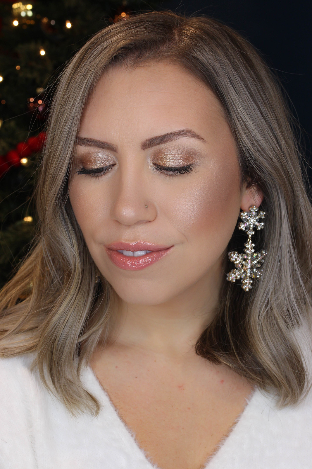 Easy Quick Step by Step Shimmery Holiday Makeup Tutorial
