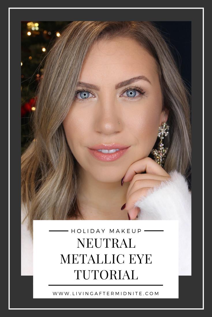 Holiday Makeup Monday Tutorial: Easy Neutral Metallic Eyes