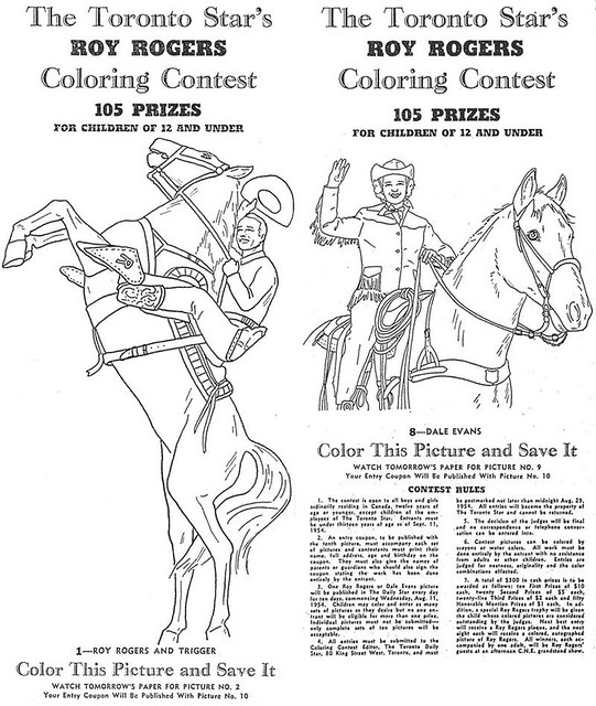 Roy Rogers Colouring Contest