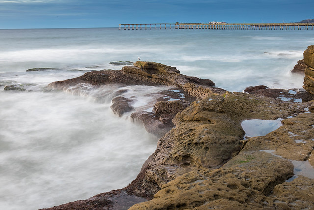 Rocks, Waves and Pier