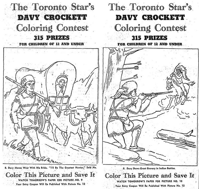 Davy Crockett Colouring Contest