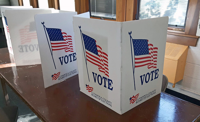 voting carrels - 2019 Ohio general election