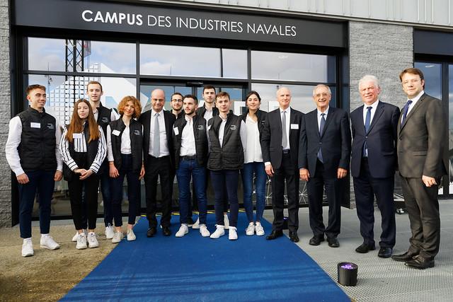 Inauguration du campus des métiers dédié à l'industrie navale