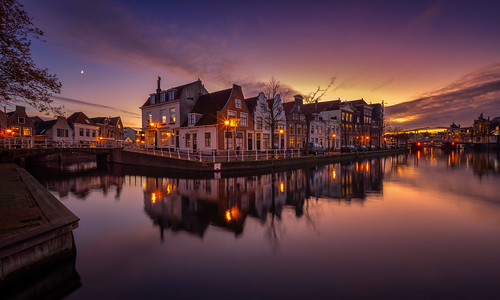 When the sun sets, Haarlem