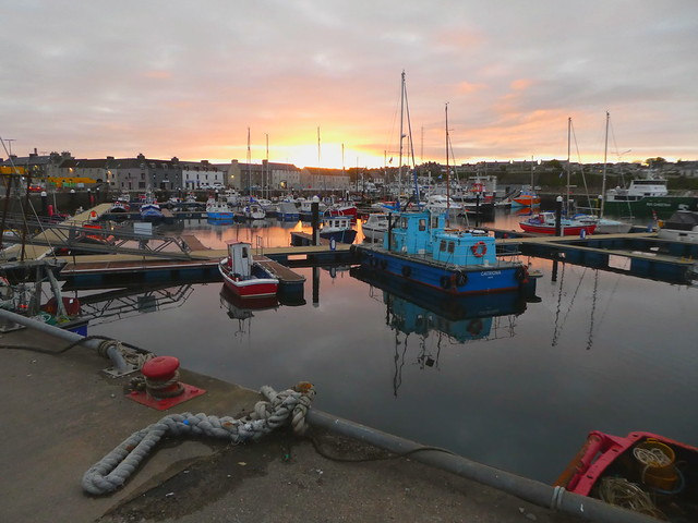 Harbour reflections, Wick