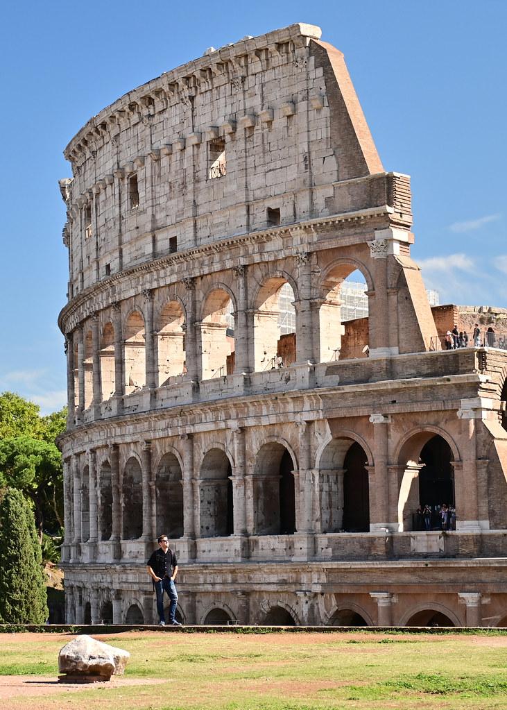 Mirador del foro Romano al Coliseo