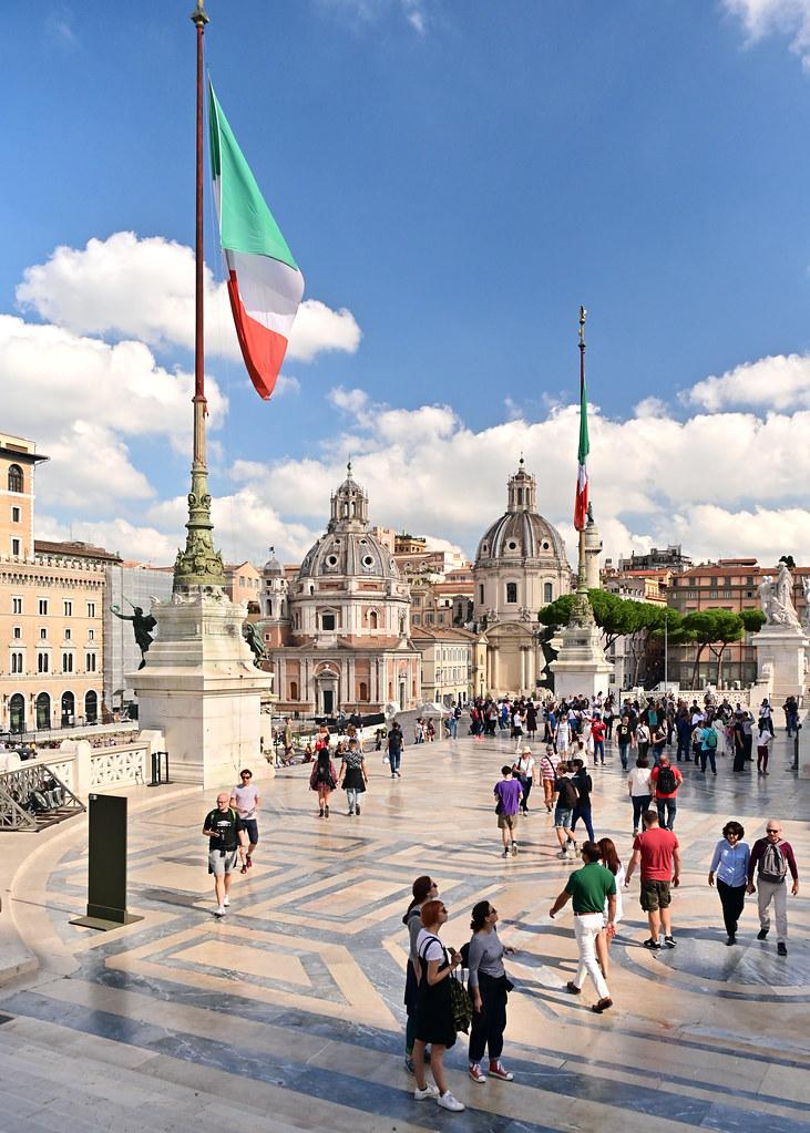 Vistas desde el Monumento Vittorio Emmanuele