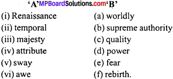 MP Board Class 11th Special English Vocabulary Exercises 4