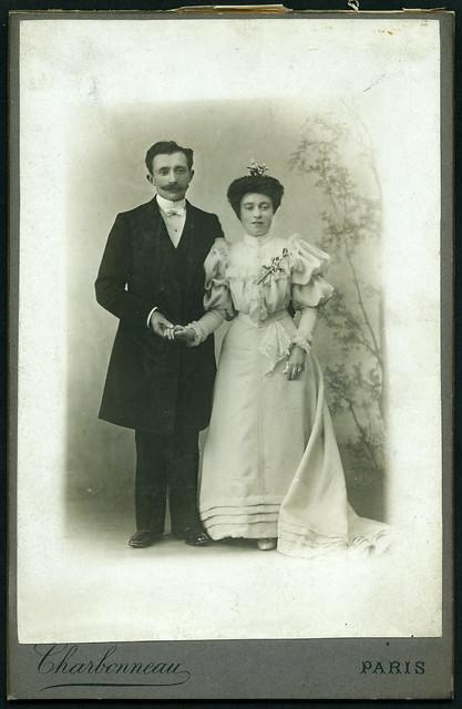 Archiv U656 Ehepaar (front), Paris, 1890er