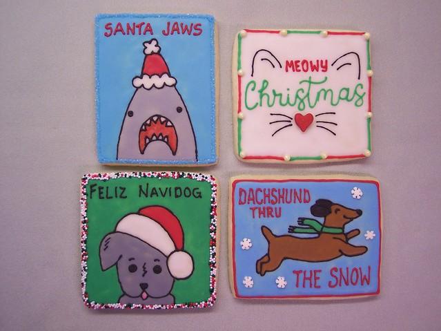 Christmas Pun Cookies