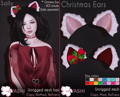 [^.^Ayashi^.^] Sally hair and Christmas Ears special for FaMESHed