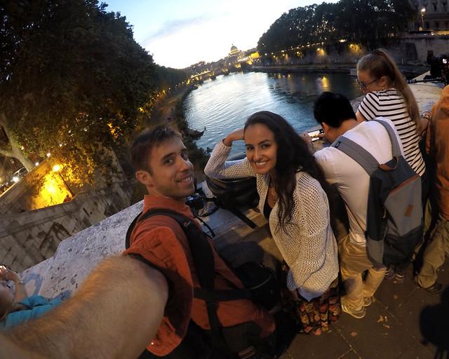 Atardecer desde el puente Umberto I
