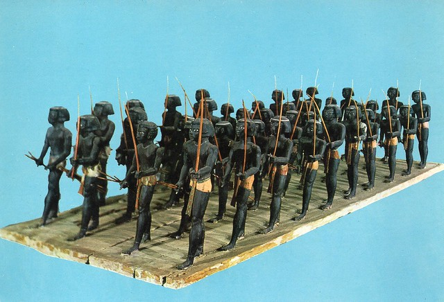 Egypt - Cairo Museum (Sudanese soldiers of Meshti Prince of Assiut 12th Dyn.)