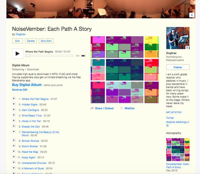 NoiseVember BandCamp