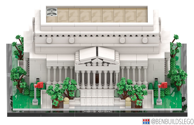 Micro Lego National Archives Building (2)