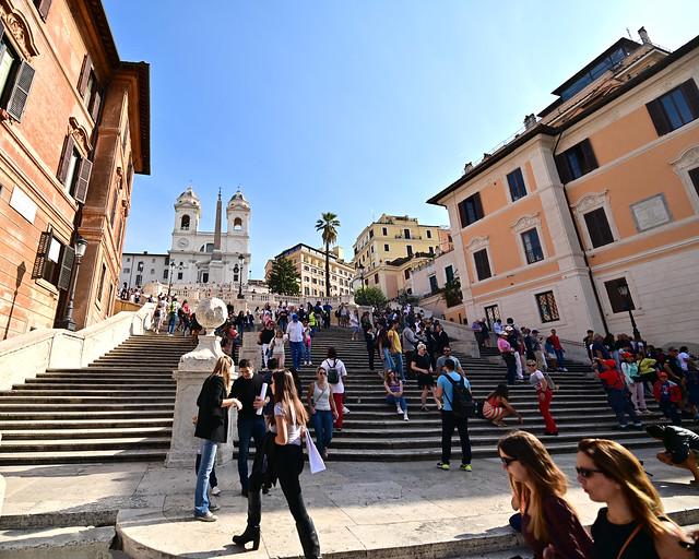 Escaleras de la plaza de España de Roma