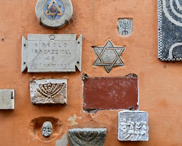 Detalle del barrio judío de Roma