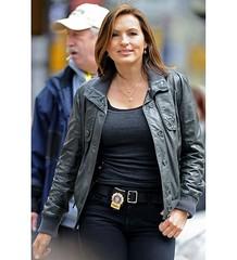 Law & Order Olivia Benson (Mariska Hargitay) Black Jacket