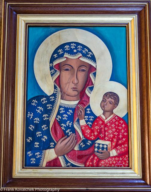 Icon in a Greek church