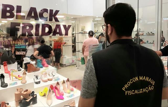 02.12.19.Procon Manaus autua oito estabelecimentos durante operação Black Friday.